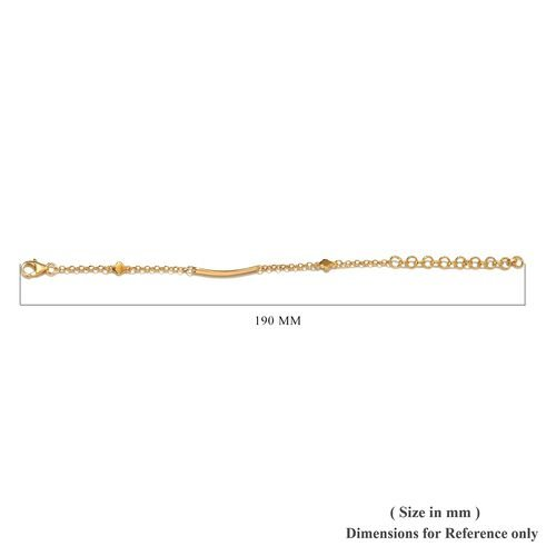 14K Gold Overlay Sterling Silver Bracelet (Size 5.5 with 2 inch Extender)