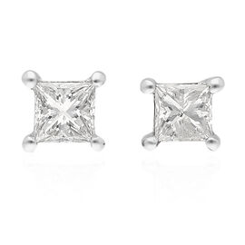 ILIANA 18K White Gold SGL Certified Diamond (SI/G-H) Stud Earrings (with Screw Back) 0.20 Ct.