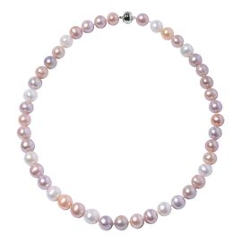 9K Yellow Gold AAA Multi Colour Freshwater Pearl (Rnd 10-12 mm)  Necklace (Size 20)