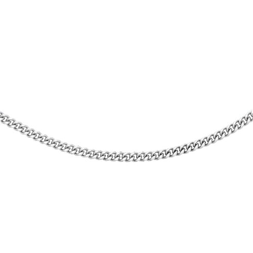 RHAPSODY Diamond Cut Curb Chain Necklace in 950 Platinum 7.20 Grams 18 Inch