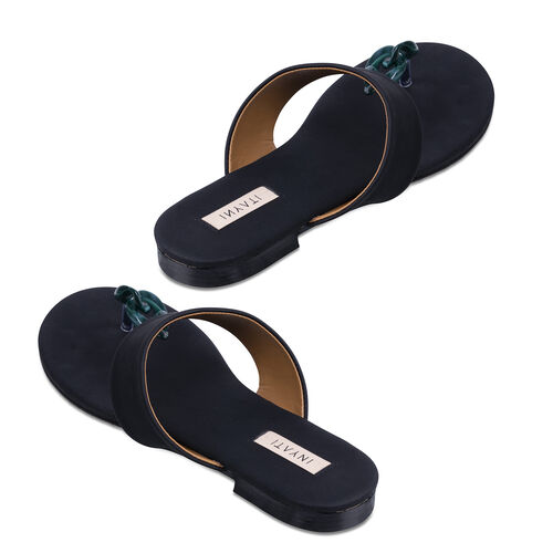 Inyati Leandra Open Toe Slip On Sandals (Size 4) - Black