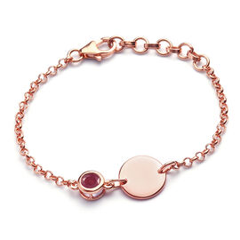 African Ruby (FF) Bracelet (Size 6 with Extender) in Rose Gold Overlay Sterling Silver