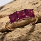 9K Yellow Gold African Ruby (FF) Ring (Size M) 3.25 Ct.