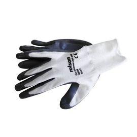 ROLSON Grey Nitrile Coated Work Gloves (Medium)