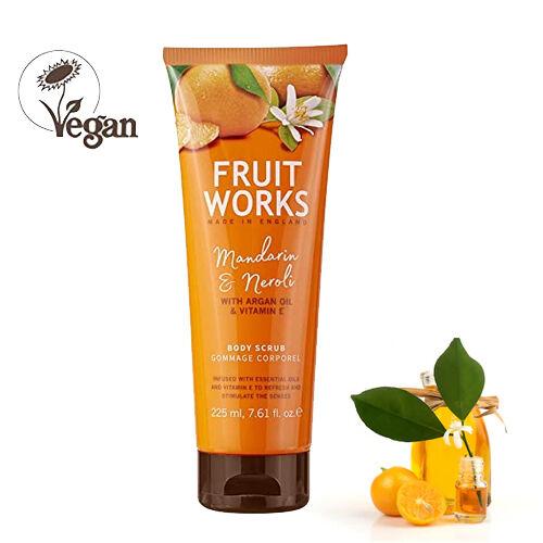 FruitWorks: Mandarin & Neroli Body Scrub (With Argan Oil & Vitamin E) - 225ml