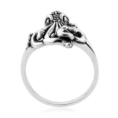 Royal Bali Collection Sterling Silver Octopus Ring, Silver wt 6.13 Gms.