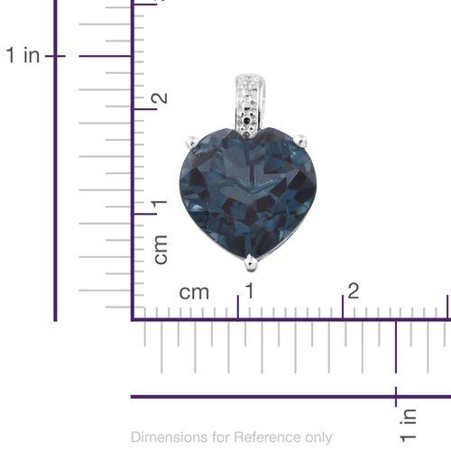 Indicolite Triplet Quartz (Hrt) Pendant in Sterling Silver 7.000 Ct.