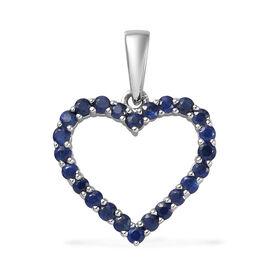 RHAPSODY 950 Platinum AAAA Ceylon Blue Sapphire Open Heart Pendant 0.50 Ct.