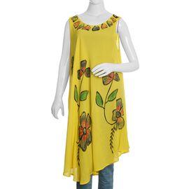 Yellow and Multi Colour Umbrella Dress (Size 116x132 Cm)