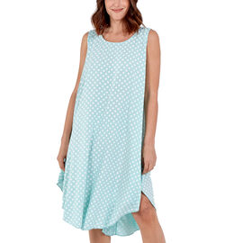 NOVA of London Polka Dot Asymmetric Hem Dress (Size up to 20) - Denim & White