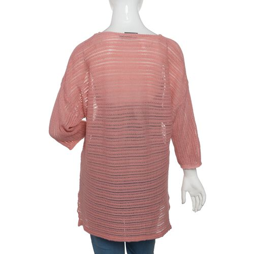 Close Out Deal 47% Cotton Pink Colour Knitted Apparel- M