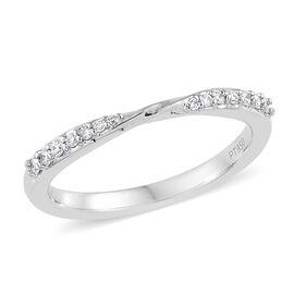RHAPSODY 950 Platinum IGI Certified (VS/E-F) Diamond (Rnd) Band Ring 0.140 Ct.