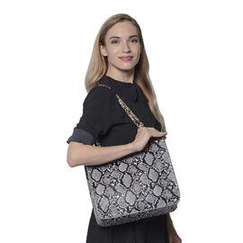 Grey Leopard Pattern Tote Bag (Size 32x11x28cm)