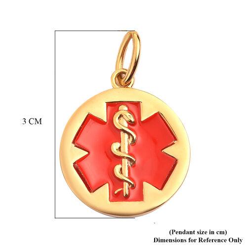 Personalised Medical Alert Pendant in Silver