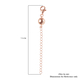 Rose Gold Overlay Sterling Silver Magnetic Ball Clasp with 2 Inch Extender