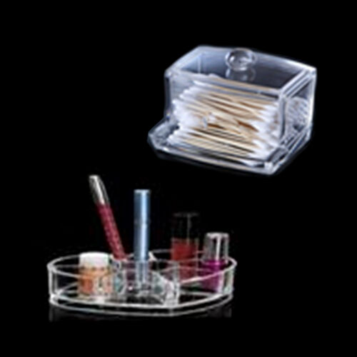 Set of 2 - Transparent Cosmetics Organizer