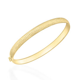 Italian Made 9K Y Gold Diamond Cut Bangle (Size 7.5 Flexible), Gold wt 2.30 Gms.