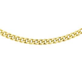 9K Yellow Gold Diamond Cut Curb Chain (Size 24)