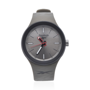 Reebok Water Resistant Sports Watch with Silicone Strap in Grey