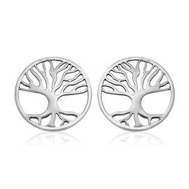 Tree of Life Stud Earrings in Sterling Silver