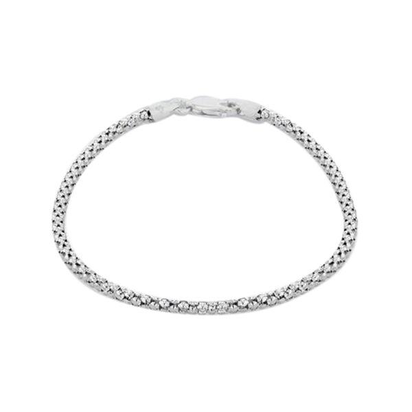 Popcorn Chain Bracelet in Sterling Silver 2.20 Grams 7.5 Inch