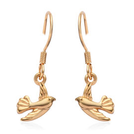 Yellow Gold Overlay Sterling Silver Hook Earrings