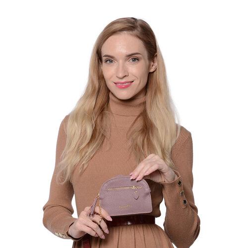 SENCILLEZ 100% Genuine Leather RFID Wallet (14x11cm) with Tassel - Light Purple