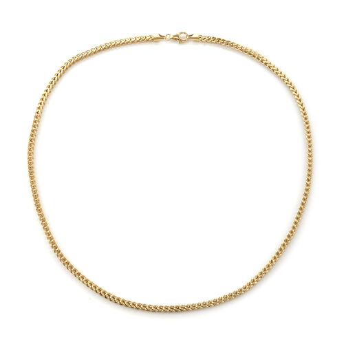 Royal Bali Collection 9K Yellow Gold Foxtail Necklace (Size 22), Gold Wt: 15.58 Gms.