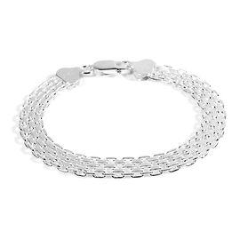 Sterling Silver Bracelet (Size 7.75), Silver wt 13.14 Gms