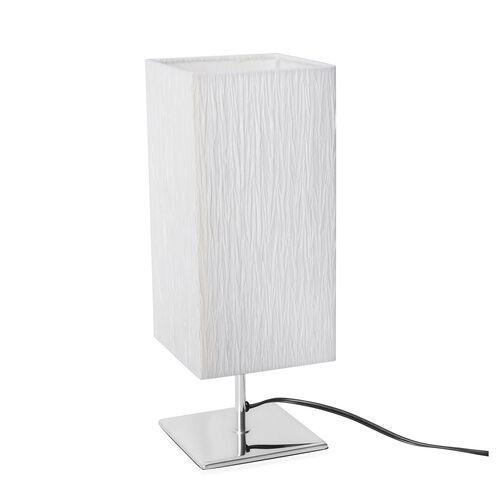 Square Shape Table Lamp  - Off White Colour (Size 50x15x15 Cm)
