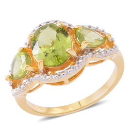 Hebei Peridot (Ovl 2.60 Ct) Ring in 14K Gold Overlay Sterling Silver 4.000 Ct.