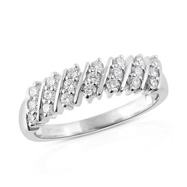 RHAPSODY 950 Platinum IGI Certified Diamond (Rnd) (VS /E-F) Ring 0.500 Ct, Platinum wt 5.20 Gms.