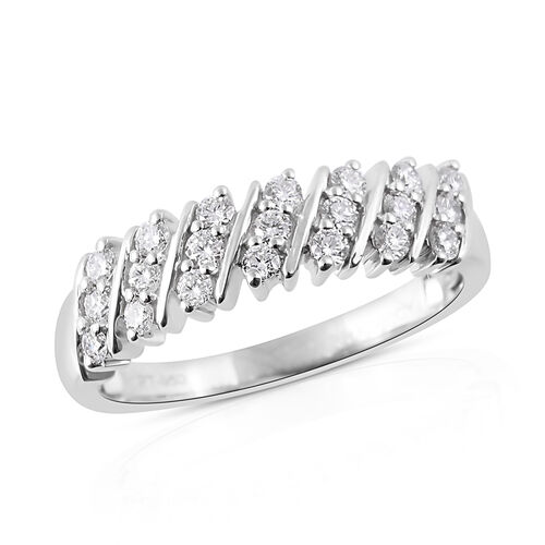 RHAPSODY 950 Platinum IGI Certified Diamond (Rnd) (VS /E-F) Ring 0.50 Ct