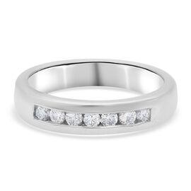 RHAPSODY 950 Platinum SGL Certified Diamond (VS/E-F) Ring 0.25 Ct, Platinum wt 5.72 Gms.