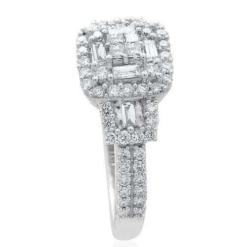 ILIANA 18K White Gold IGI Certified Diamond (Princess) (SI/G-H) Ring 1.000 Ct.