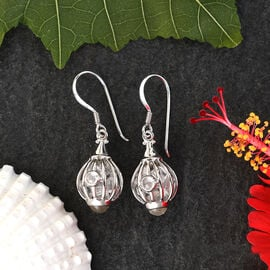 Sajen Silver GEM HEALING Collection - Austrian Crystal Hook Earrings in Rhodium Overlay Sterling Silver 9.92 Ct.
