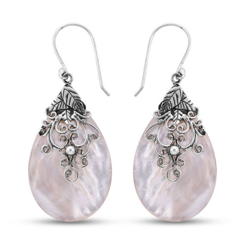 Royal Bali Collection Mother of Pearl Drop Earrings in Sterling Silver