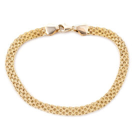 Royal Bali Collection Flat Mesh Bracelet in 9K Gold 7.5 Inch
