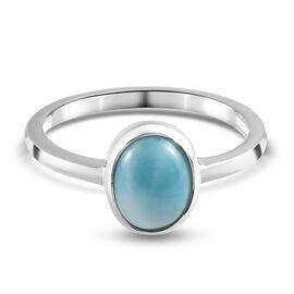 Larimar Ring  Sterling Silver 1.00 ct  1.000  Ct.