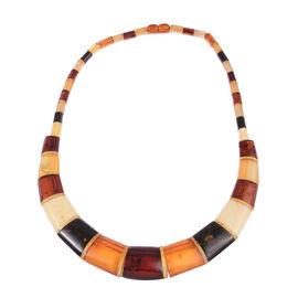 18 Inch Multi Colour Amber Collar Necklace 100 Ct