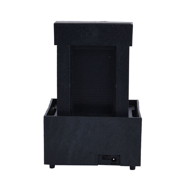 Mini Water Fountain with LED Light - Black (Size - 11x9x17 cm)