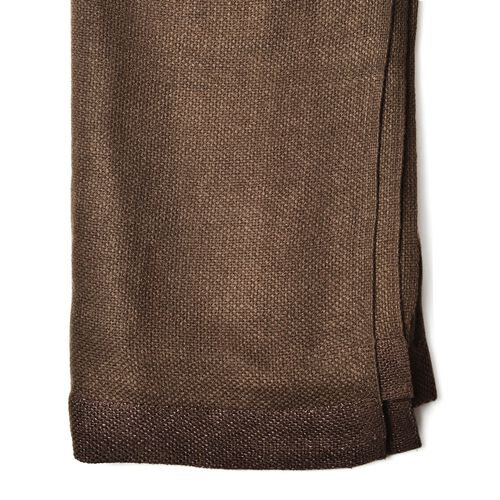 Dark Brown Colour Scarf with Sequin Border (Size 180x120 Cm)