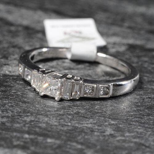 RHAPSODY 0.50 Carat Diamond Band Ring in 950 Platinum 5.83 Grams IGI Certified VS EF