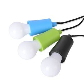 Set of 3 - Green, Blue and Black Colour Hanging LED Lights with Durable Rope