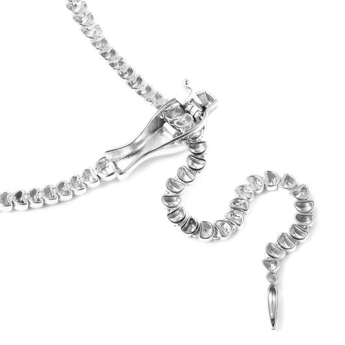 Vicenza Collection Close Out- Rhodium Overlay Sterling Silver Serpent Necklace (Size 21) Silver Wt 25.00 Grams