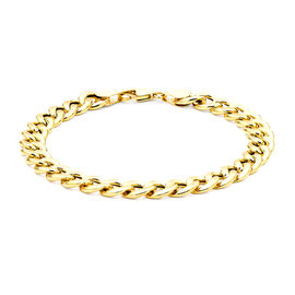 Hatton Garden Close Out 9K Yellow Gold Curb Bracelet (Size 8) with Lobster Clasp, Gold wt 7.80 Gms.