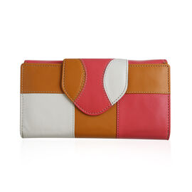 Close Out Deal - 100% Genuine Leather Wallet with Multi Compartments- Pink
