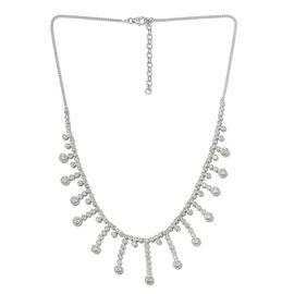 Designer Inspired-Diamond (Rnd) Necklace (Size 18) in Platinum Overlay Sterling Silver 1.000 Ct.