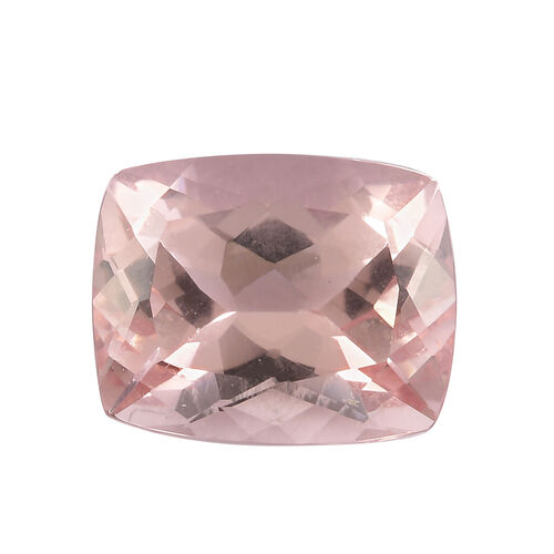 AAA Pink Morganite Cushion 10x8 Faceted 2.57 Cts