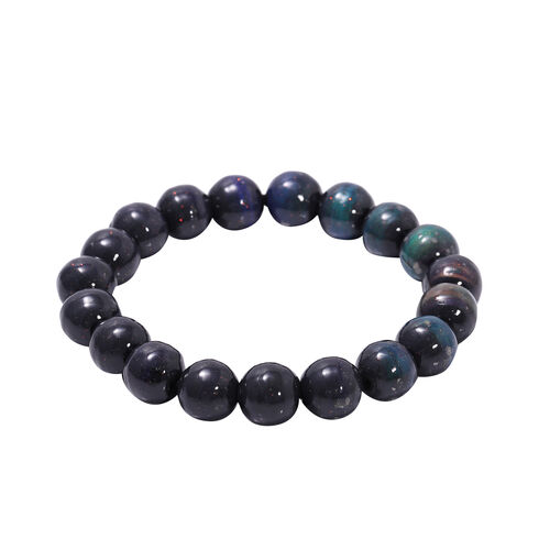 One Time Deal- Hematite Mood Change Beaded Stretchable Bracelet 235.00 Ct.